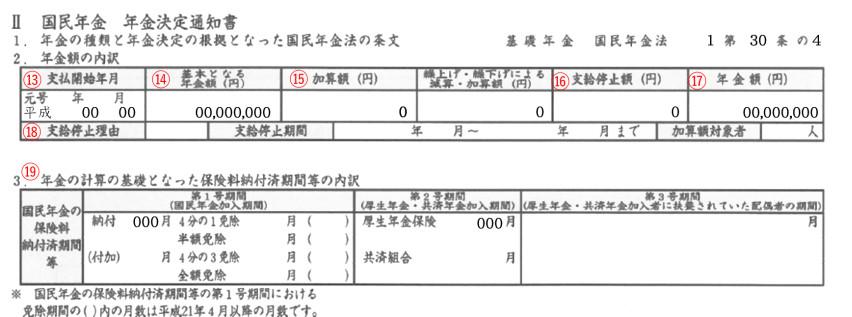 年金証書(Ⅱ)基礎年金
