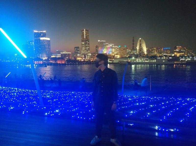 大さん橋のクリスマスイルミネーション