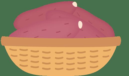 山盛りサツマイモ