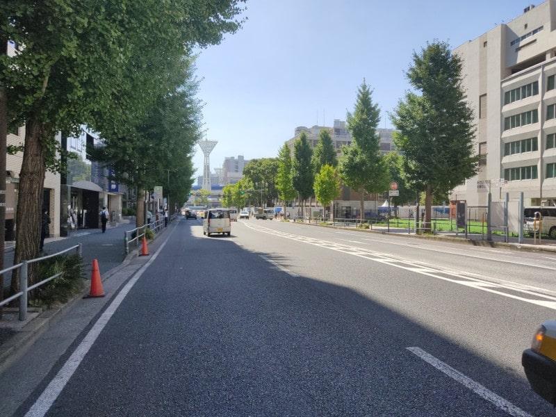 横浜スタジアムへの通り